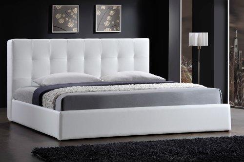 Cama de cuero estructura de armazones blanco 160x200cm - Estructuras de camas ...
