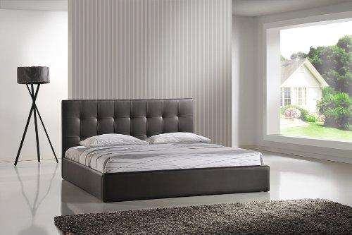 Cama de cuero estructura de armazones blanco 160x200cm for Estructura cama matrimonio