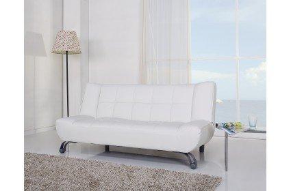 Sofa cama tres plazas apertura clic clac en piel textil en - Ikea textil cama ...