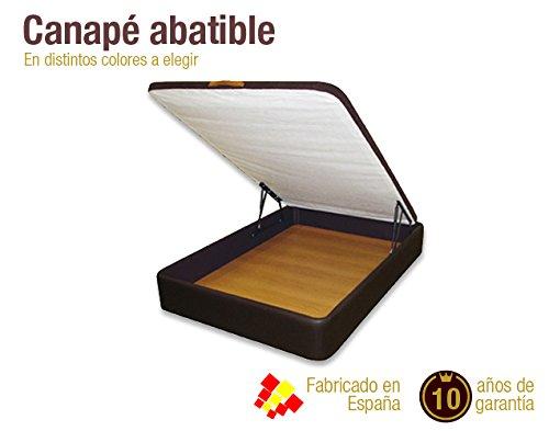 Canap abatible para colch n de 150x190 negro for Canape para colchon viscoelastico