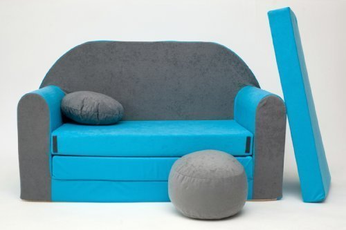 sof cama infantil con reposabrazos reposapies y almohada