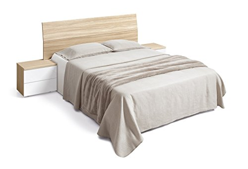 Habitdesign (016073W) - Cabezal de cama de matrimonio y 2 mesitas ...