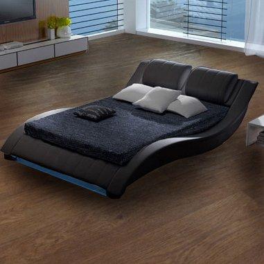muebles bonitos cama bilbao negro 180x200cm varias medidas disponibles