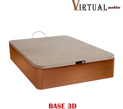 Canap abatible cid 105x190 con tapa 3d con 29 cm de for Canape abatible ikea