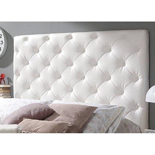 Cabecero en capiton a rombos blanco para cama matrimonio - Cabeceros de cama capitone ...