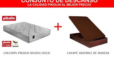 Colch n pikolin visco serenity 21cm canap abatible madera for Medidas de un colchon twin