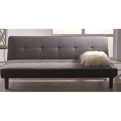 Sof cama gris y negro click clack colchoner a comprar for Sofa cama de click clack