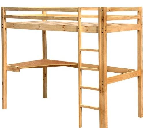 Miadomodo hbt01 cama alta para ni os con escritorio - Escaleras para camas altas ...
