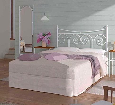 Factory muebles cabecero de forja nacional modelo palma for Cabecero cama 90 blanco