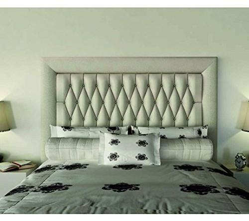 Factory muebles cabecero de polipiel milan con marco for Cabecero blanco 135