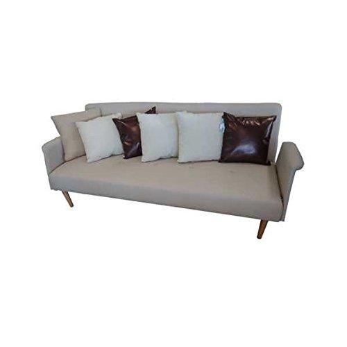Sofa cama libro brazos desmontables tapizado tela cremacon for Colchon sofa cama libro