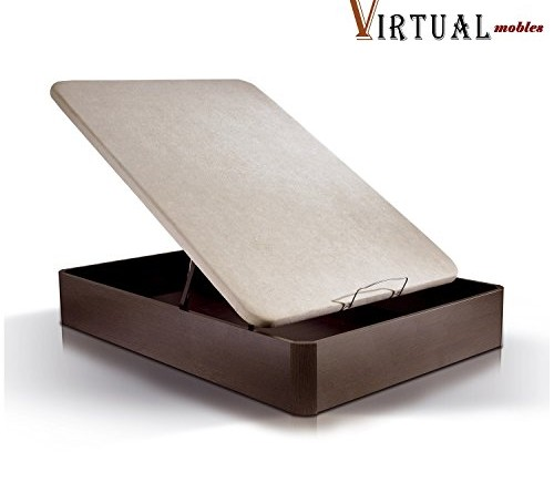 Canap abatible in s 150x200 con tapa tapizada en beige 3d for Canape abatible ikea