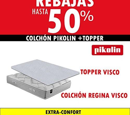 Colch n pikolin regina 32cm topper viscoel stico confort for Topper para colchon