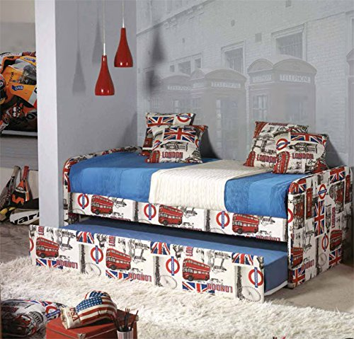 Camas con canap abatible modelo london 96x79x202 for Cama canape 90