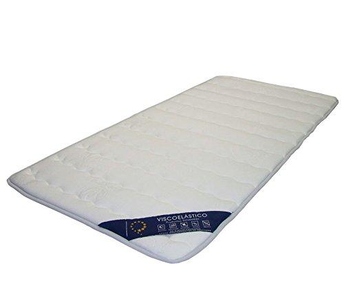 mivis topper 1 5 visco tela moncel aloe vera ajustable tama o 105 180 cm color blanco. Black Bedroom Furniture Sets. Home Design Ideas