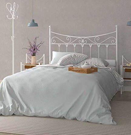 Factory muebles cabecero de forja nacional modelo co n for Cabecero blanco 135