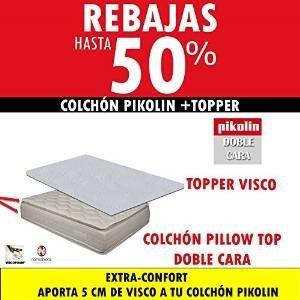 Colchon pikolin pillow top doble cara 33 cm topper for Medidas de un colchon doble