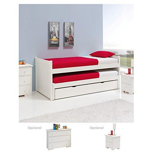 Literas 2 camas simples 1 caj n con fondo de mdf 3 mm - Literas de 3 camas ...