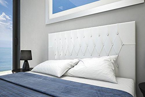 Cabecero tapizado vogue 160x60 blanco colchoner a - Cabecero tapizado blanco ...