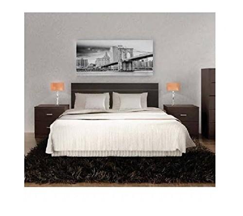 Cabecero para cama de matrimonio color wengu comprar for Cabeceros y canapes