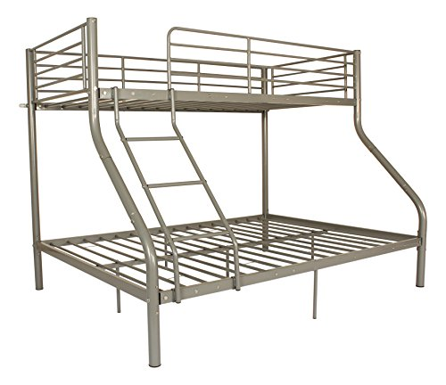 Marco de metal Triple Sleeper - bunkbeds litera en plata y negro ...
