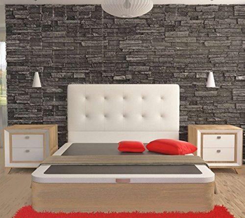 La web del colchon cabecero corfu cama 90 100 x 70 cms for Cabecero cama 90 blanco