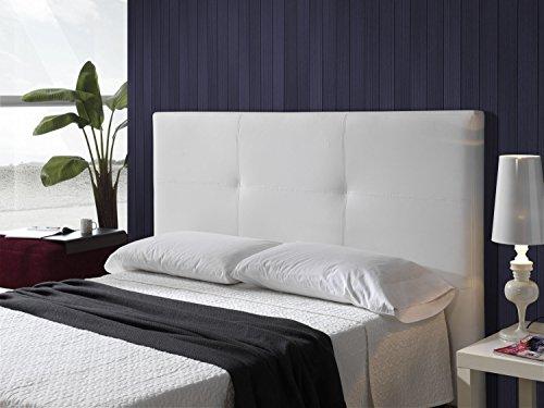Cabecero tapizado en polipiel mod smooth 180 x 115 cm - Cabecero tapizado blanco ...