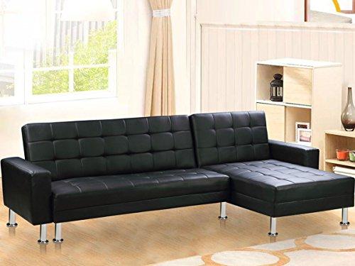 Sof esquinero convertible theo imitaci n piel color - Sofa esquinero cama ...